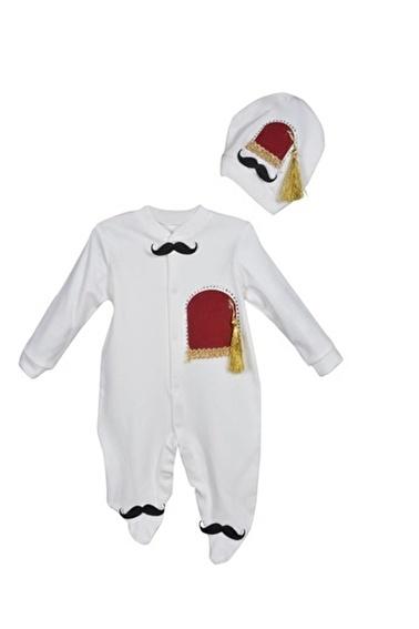Sema Bebe Necixs Fesli Taşlı Tulum Erkek Bebek Giyim Bordo